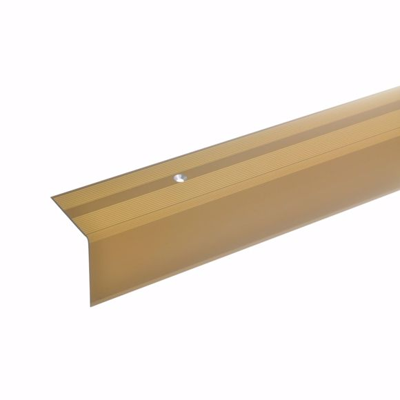 Picture of 42x40mm stair angle 100cm long gold drilled