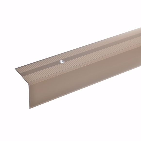 Picture of 42x40mm stair angle 100cm long bronze light drilled