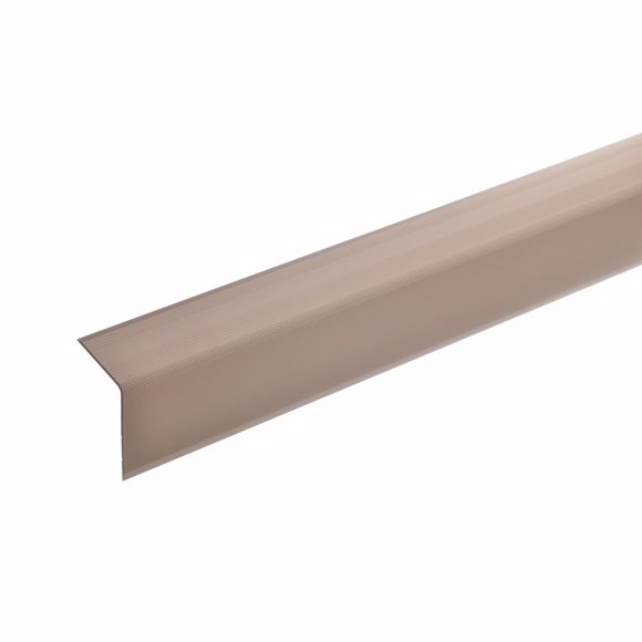 Picture of 42x30mm stair angle 135cm long bronze light self-adhesive