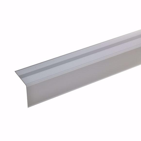 Afbeelding van 42x40mm traphoek 135cm lang zilver zelfklevend