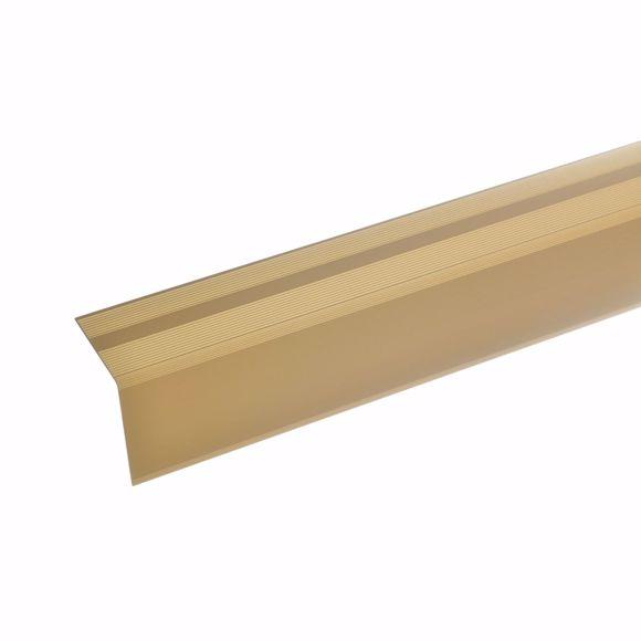 Foto de 42x40mm ángulo de la escalera 135cm de largo dorado autoadhesivo