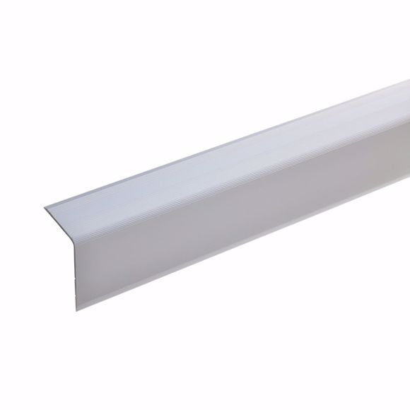 Picture of 42x30mm stair angle 170cm long silver self-adhesive