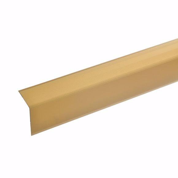 Foto de Ángulo de escalera de 42x30mm 170cm de largo dorado autoadhesivo