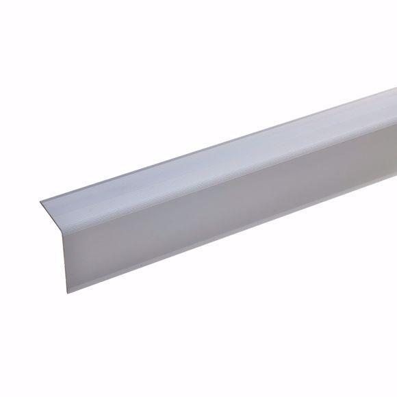 Bild von 42x30mm Treppenwinkel 135cm lang silber ungebohrt
