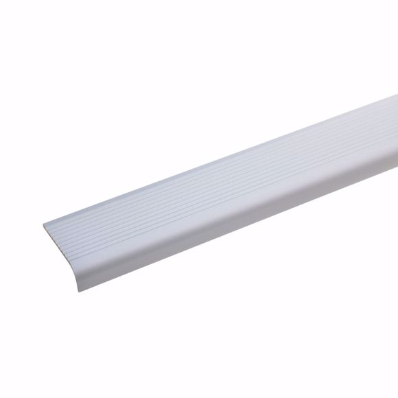 Picture of Aluminium stair angle profile - silver - 170cm 15x40mm self-adhesive