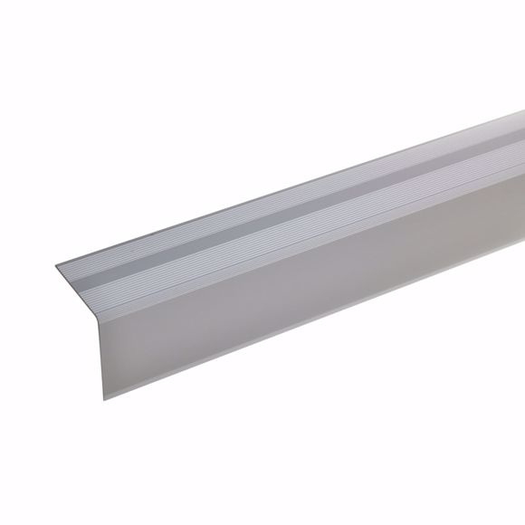 Picture of 42x40mm stair angle 100cm self-adhesive silver