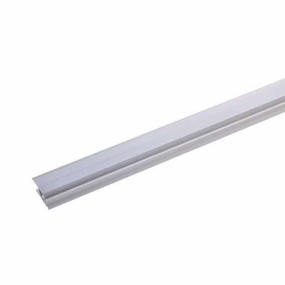 Picture of Wall end profile 100cm silver 21.5 x 7-10mm drilled End profile aluminium
