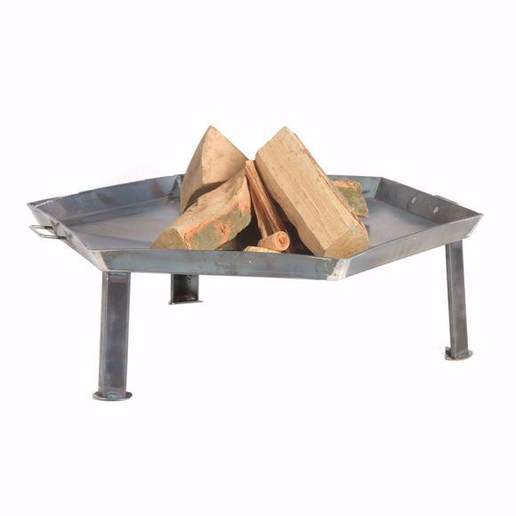Bild von Feuerschale 55cm Feuerkorb Feuerstelle Lagerfeuer + 5 Stk. Kaminholz Birke