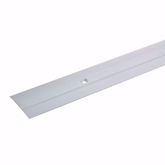 Bild von Übergangsprofil Aluminium - 100cm 38x18 mm silber gebohrt Übergangsleiste