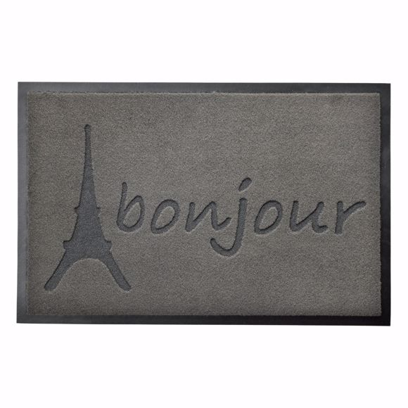 Picture of Dirt trap mat BONJOUR grey 40x60cm