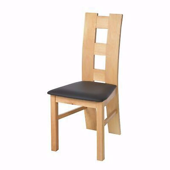 Image sur ROM schwarz Stuhl für Esstisch Buche * Massivholz * Geölt *