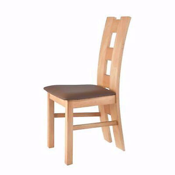 Bild von ROM braun Stuhl für Esstisch Buche * Massivholz * Geölt * Polster*