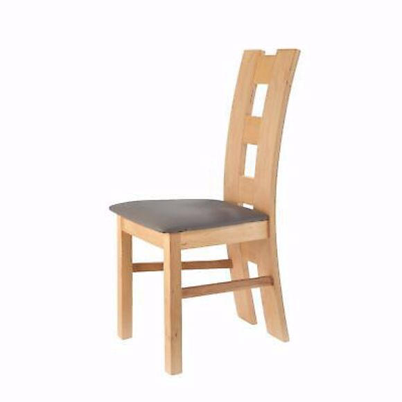 Image sur ROM anthrazit Stuhl für Esstisch Buche * Massivholz * Geölt * Polster*