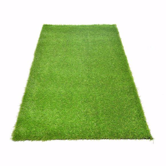 Foto de Khela Realistic césped artificial verde Altura del pelo aprox. 30 mm 1x4m