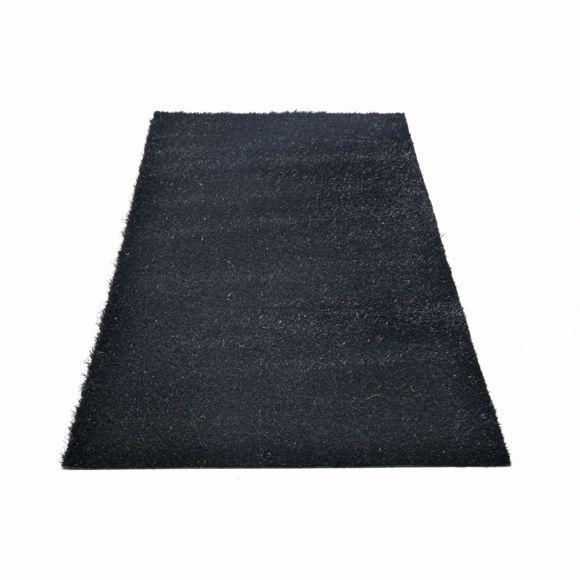 Bild von Chroma Kunstrasen für draußen schwarz Florhöhe ca. 25 mm 2x2m