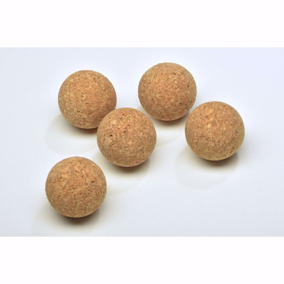 Picture of 5x cork balls made of 100% natural cork - 50mm