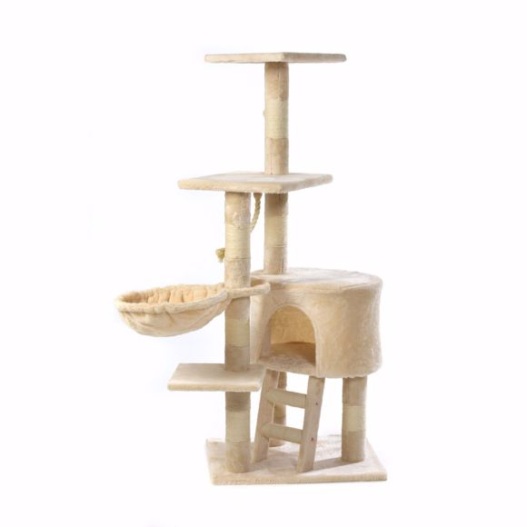 Picture of Lilly cat scratching tree for big cats 120cm - beige
