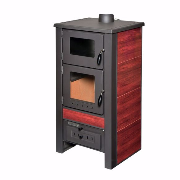 Picture of Santo wood stove - 8 kW - fireplace stove red made of high quality steel for wood & coal