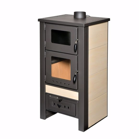 Picture of Santo wood stove - 8 kW - Fireplace stove cream made of high quality steel for wood & coal