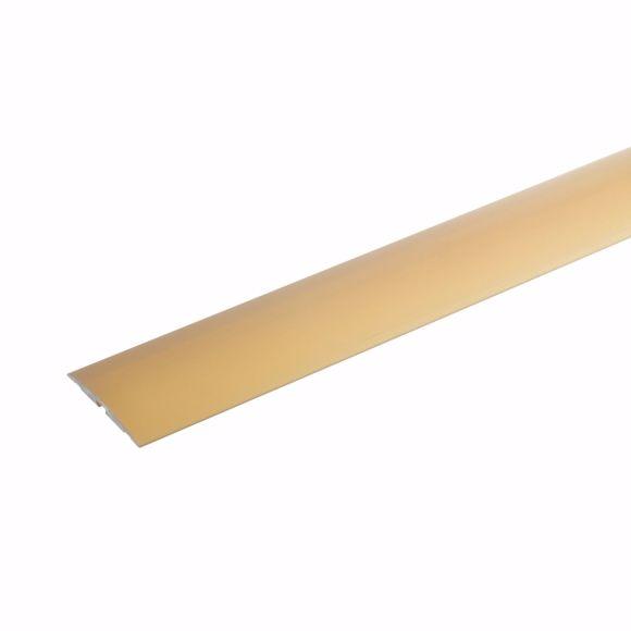 Bild von Übergangsprofil Alu selbstklebend Bodenleiste Aluminium Leiste 135cm gold 4x50mm