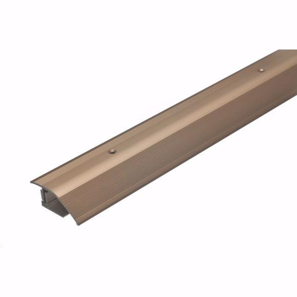 Bild von Alu Höhenausgleichsprofil 135cm bronze hell 12-22mm Übergangsleiste Türschiene
