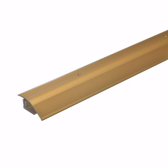 Bild von Alu Höhenausgleichsprofil 90cm gold 12-22mm Übergangsleiste Anpassungsprofil