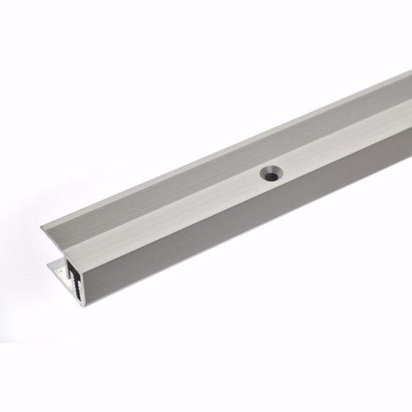 Immagine di Profilo terminale a parete 100cm argento 21 x 7-15mm profilo pavimento in alluminio forato