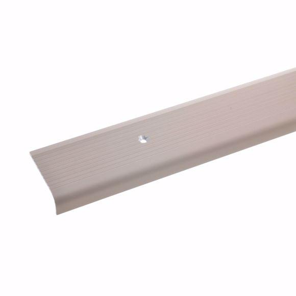 Image sur 15x40mm angle de marche 270 cm bronze clair protection des bords marche d'escalier aluminium percée