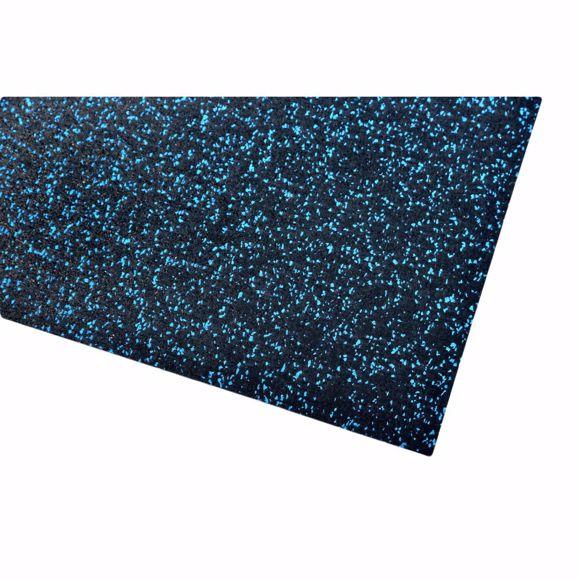 Image sur Bodenschutzmatte Fitnessmatte Unterlage Fitnessgeräte 500x125x0,4 cm blau