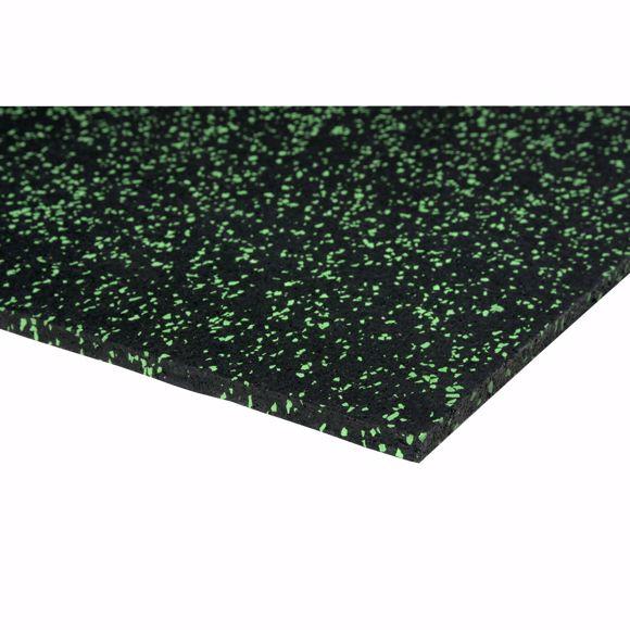 Image sur Bodenschutzmatte Fitnessmatte Unterlage Fitnessgeräte 350x125x0,4 cm grün