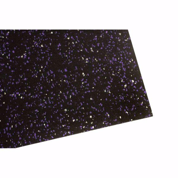 Image sur Bodenschutzmatte Fitnessmatte Unterlage Fitnessgeräte 450x125x0,4 cm lila weiß
