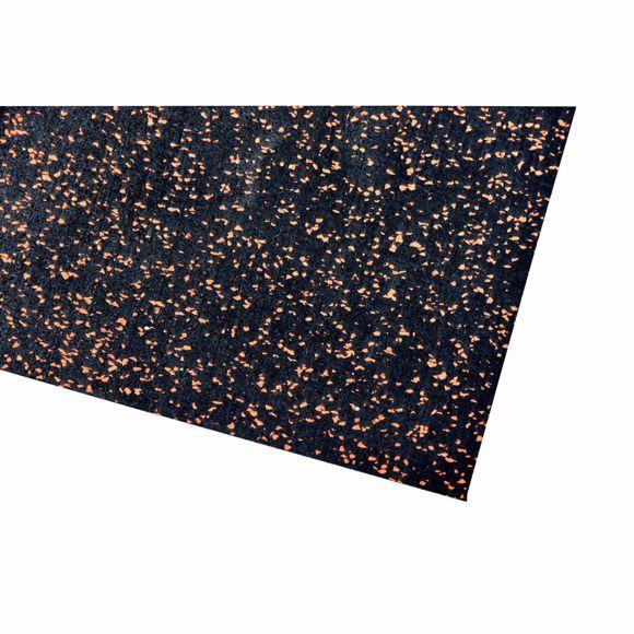 Image sur Bodenschutzmatte Fitnessmatte Unterlage Fitnessgeräte 450x125x0,4 cm orange