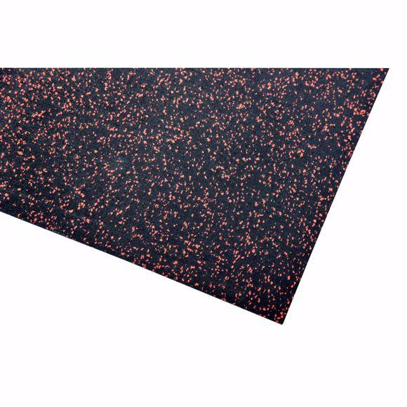 Image sur Bodenschutzmatte Fitnessmatte Unterlage Fitnessgeräte 400x125x0,4 cm rot