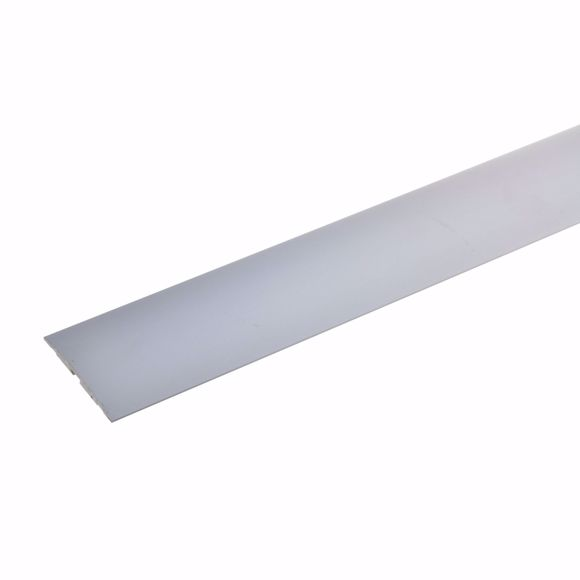 Image sur Übergangsprofil Aluminium selbstklebend 270 cm silber 4x50mm Türschwelle Schiene