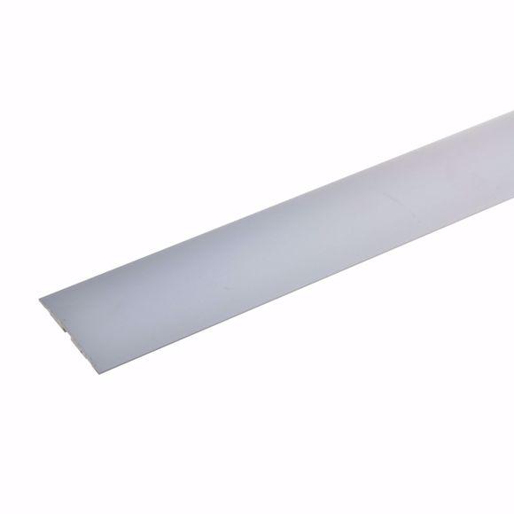 Bild von Übergangsprofil Aluminium selbstklebend 135 cm silber 4x50mm Türschwelle Schiene