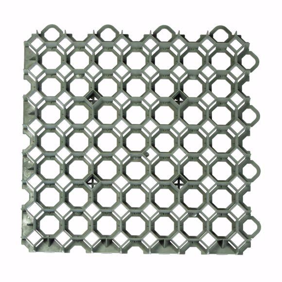 Bild von Rasengitter Kunststoff Platte grün 49x49x4 cm Befahrbar Rasengitterplatten