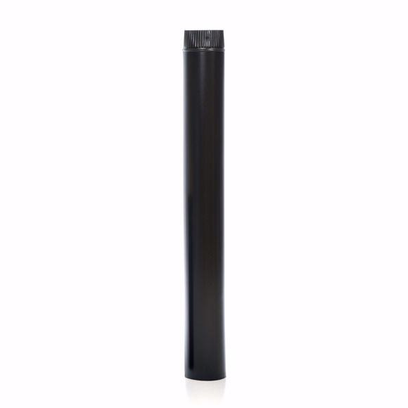 Picture of Ofenrohr emaille 120mm - 100cm schwarz - Emailliertes Rauchrohr für Kaminöfen