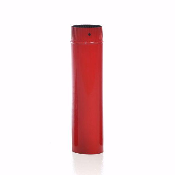 Image sur Ofenrohr emaille 120mm - 50cm rot - Emailliertes Rauchrohr für Kaminöfen