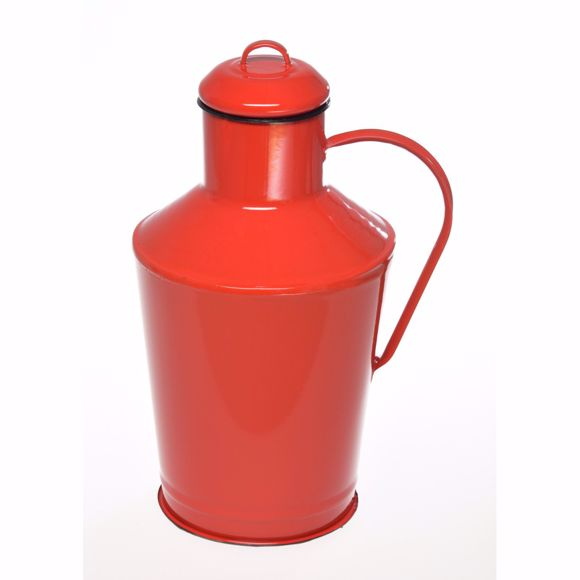 Image sur emaillierter Bauernkrug mit Griff – rot 7 Liter
