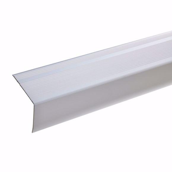Bild von 55x69mm Treppenwinkel 270cm lang silber selbstklebend