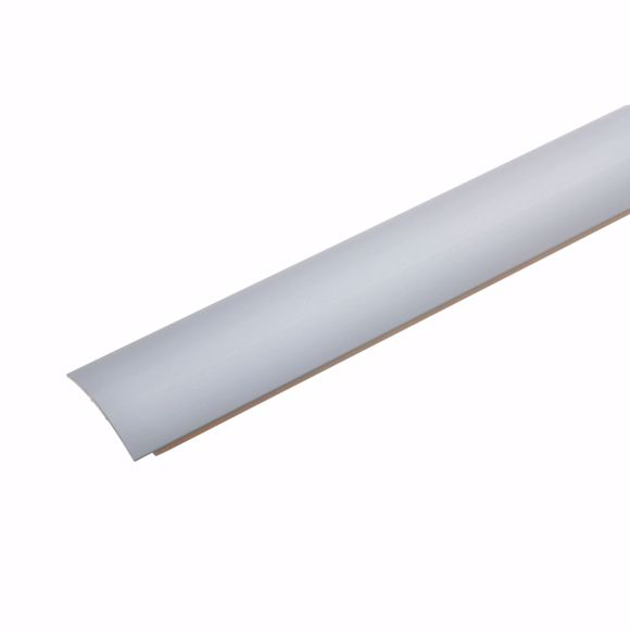 Image sur Übergangsprofil Silber 170 cm - 28mm breit Stärke Teppichschiene selbstklebend