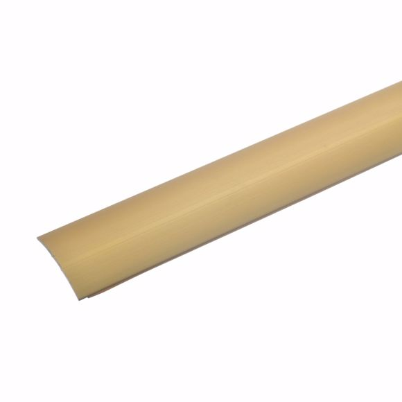 Bild von Übergangsprofil gold 135 cm - 28mm breit Stärke Teppichschiene selbstklebend