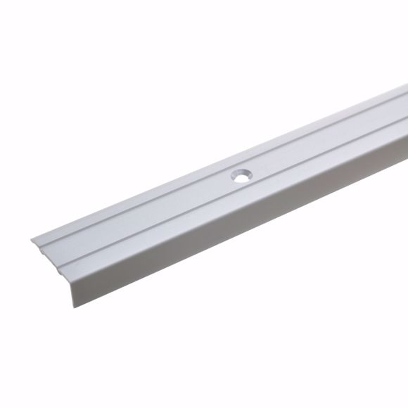 Bild von Winkelprofil Silber 270 cm - 24,5 mm breit inklusive Schrauben und Dübeln Alu
