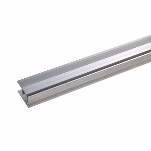 Image sur Abschlussprofil 270 cm edelstahlfarbig 21 x 11-15mm gebohrt Aluminium eloxiert