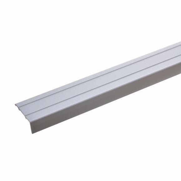 Image sur Winkelprofil Aluminium eloxiert 135 cm -24,5 x 10mm silber selbstklebend Alu
