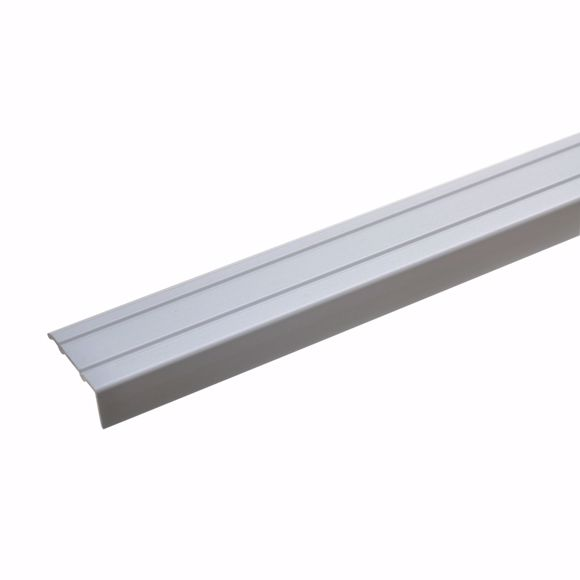 Bild von Winkelprofil Aluminium eloxiert 170 cm -24,5 x 10mm silber selbstklebend Alu