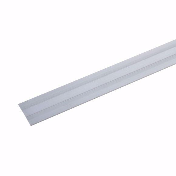 Image sur Übergangsprofil 135cm silber 27 x 1,7mm selbstklebend Dehnungsprofil Aluminium