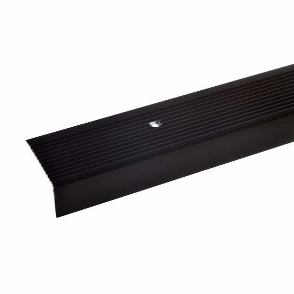 Bild von Treppenprofil Treppenkantenprofil bronze dunkel Alu 20x40mm 270cm gebohrt