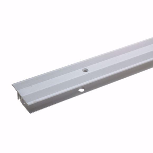 Image sur Übergangsprofil 270cm silber 33 x 7-15mm gebohrt Alu Türschiene Türschwelle