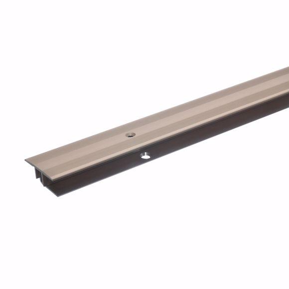 Image sur Übergangsprofil 270cm bronze hell 33 x 7-15mm gebohrt Teppichschiene Türschiene
